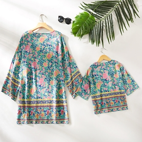 Mommy and Me Daisy Floral Print Cover Up