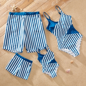 Stripe Print Family Matching Look Swimwears