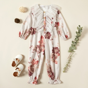Toddler Girl Floral Bloomers Jumpsuit