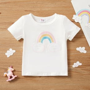 1pc Baby Unisex Short-sleeve Cotton casual Clouds Tee