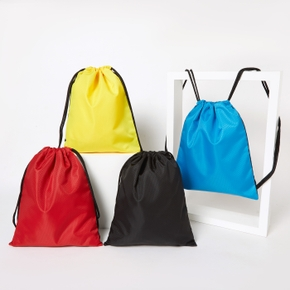 Solid Outdoor Sports Backpack Drawstring Bag for Toddlers / Kids