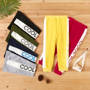 Toddler Boy Casual Letter Sweatpants