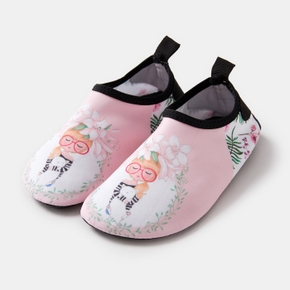 Floral Cartoon Athleisure Water Beach Shoes for Toddlers / Kids