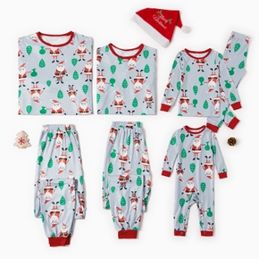 Christmas Pajamas Sets Santa Print Family Matching