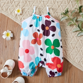 1pc Baby girl Sling  Sweet Floral Rompers & Bodysuits
