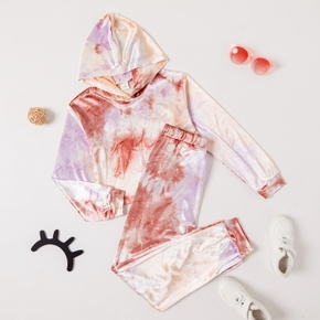 Kid Girl Tie Dye Hoodie and Sweatpants Set