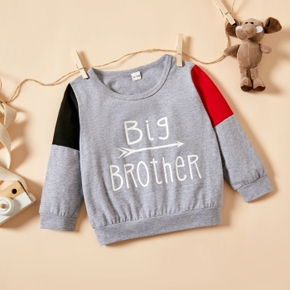 1pc Baby Boy Long-sleeve Cotton Letter Pullovers & Hoodies