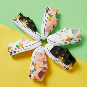 Toddler / Kid Flower Velcro Closure Canvas Shoes