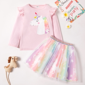 2pcs Kid Girl Skirt suit elegant Suits