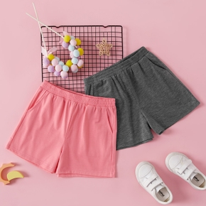 Solid Activewear Shorts for Toddlers / Kids