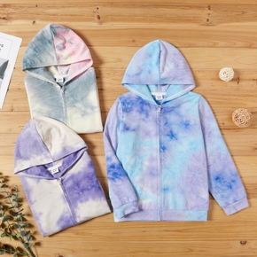 Kid Boy/Kid Girl Tie Dye Zip-up Jacket