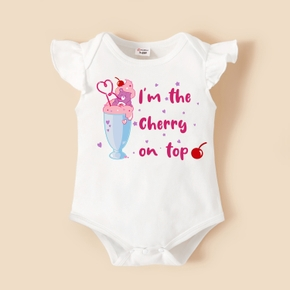 Care Bears Baby Girl Summer Ice Cream and Cherry Cotton Bodysuit