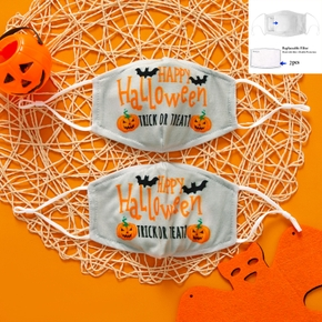 3-Layer Halloween Letter Print Half Face Mask (Include Two Replaceable Filters)