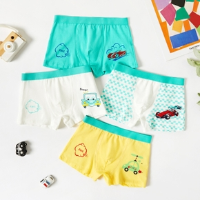 4-Pack Toddler Boy Car Print Pajama Pants Knickers