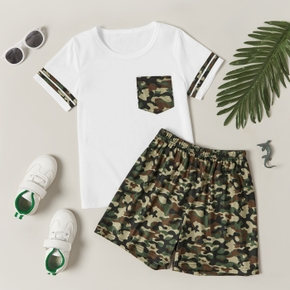 Trendy Kid Boy 2-Piece Camouflage Print Suits