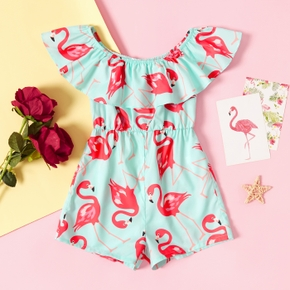 Fashionable Toddler Girl Flamingo Print Jumpsuit