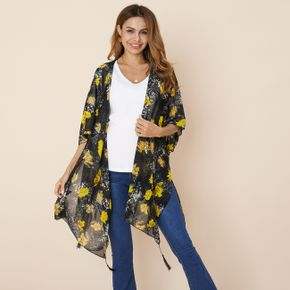 Pretty Floral Printed Maternity Coat
