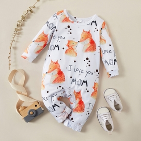 Baby Fox Letter Jumpsuit