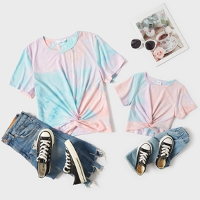 Tie-dye Print Short Sleeve T-shirts for Mommy and Me