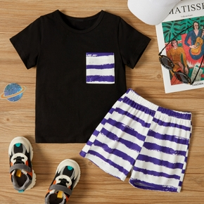 2-piece Toddler Boy Casual Tie Dyed Tee and Shorts Set