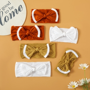 Solid Color Bowknot Elastic Headbands for Mommy and Me