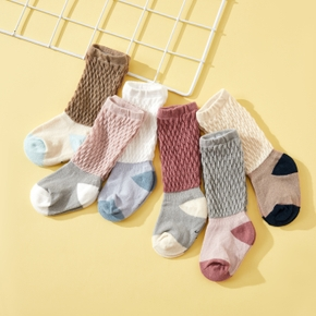 3-pack Baby Colorblock Knitted Middle Socks