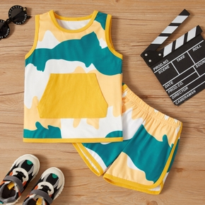 2-piece Toddler Boy Colorblock Camisole and Shorts Set