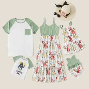 Mosaic Color Block Floral Family Matching Sets