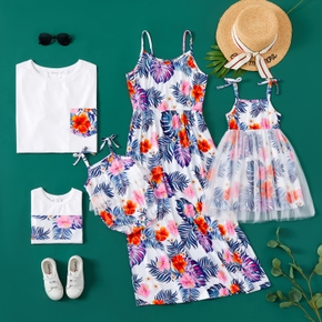 Mosaic Floral and Leaf Print Family Matching Set