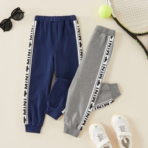 Bat and Letter Print Athleisure Pants for Toddlers / Kids