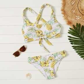 2pcs Pineapple full print Multi-color Bikinis