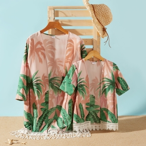Coconut Tree Print Matching Pink Cover Up