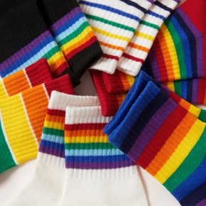 Baby / Toddler / Kid Rainbow Knitted Socks