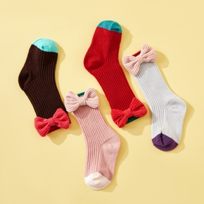 1-pack Baby / Toddler / Kid Bowknot Knitted Middle Socks