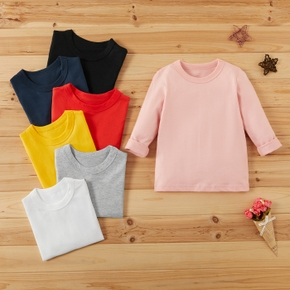 Baby / Toddler Causal Solid Long-sleeve Tee