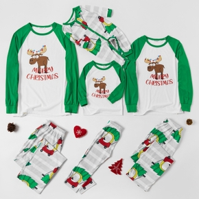 Family Matching Cute Moose Print Christmas Pajamas Sets(Flame Resistant)