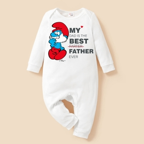 Smurfs Baby Boy/Girl Best Father Ever Cotton Jumpsuit/One Piece