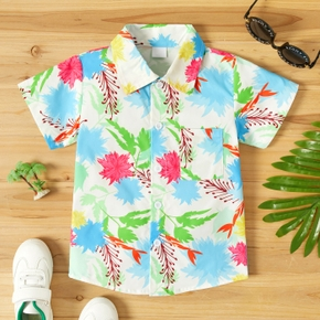 Toddler Boy Summer Floral Print Shirt