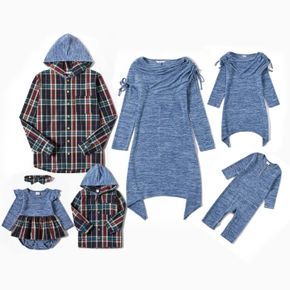 Mosaic Family Matching Casual Blue Series Sets