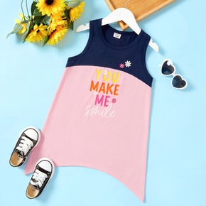 Trendy Toddler Girl Letter  Daisy Print  Dress
