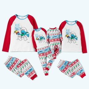 Smurfs Blue Party Family Matching Christmas Pajamas Set