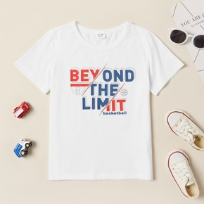 'Beyond the limit' Letter Basketball Print Short-sleeve Tee for Toddlers / Kids