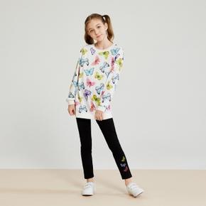 Girls Butterfly Pullover & Leggings Set