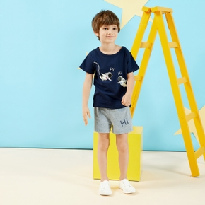 2-piece Baby / Toddler Boy Astronaut Tee and Shorts Set