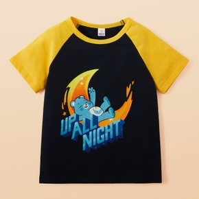 Care Bears Up All Night Short Sleeve Raglan Tee