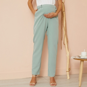 Maternity casual Plain Green Casual pants