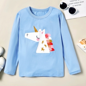 Beautiful Unicorn Print Longsleeves Tees