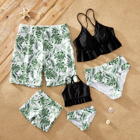 Green Leaf Family Matching Swimsuits