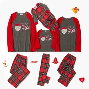 Family Matching Santa Print Plaid Pajamas Sets (Flame Resistant)