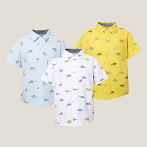 Kids Boy Dinosaur Allover Print Polo Shirt